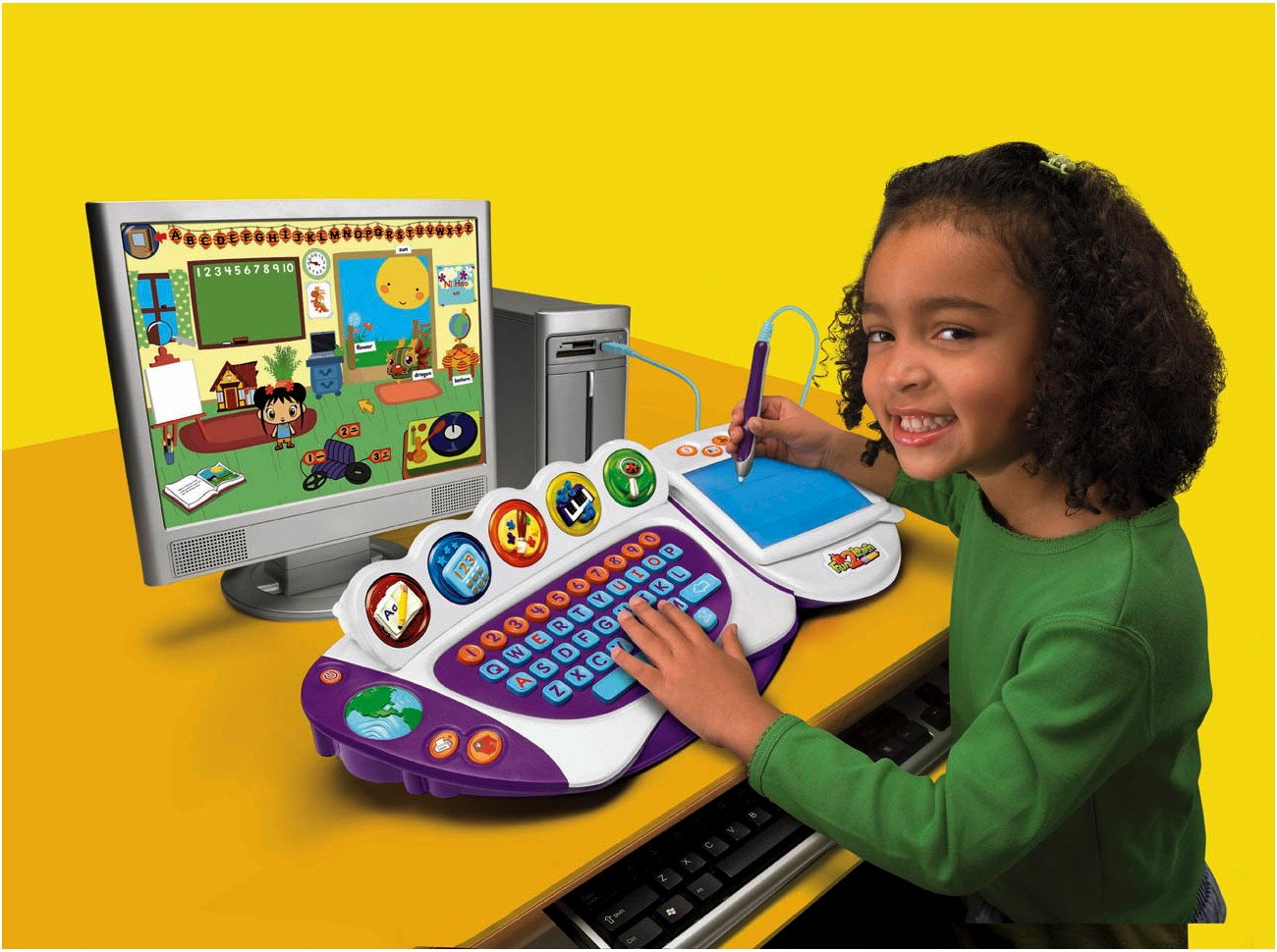 Fun 2 Learn Computer Cool School Software Kai Lan by Fisher-Price (Image #1)