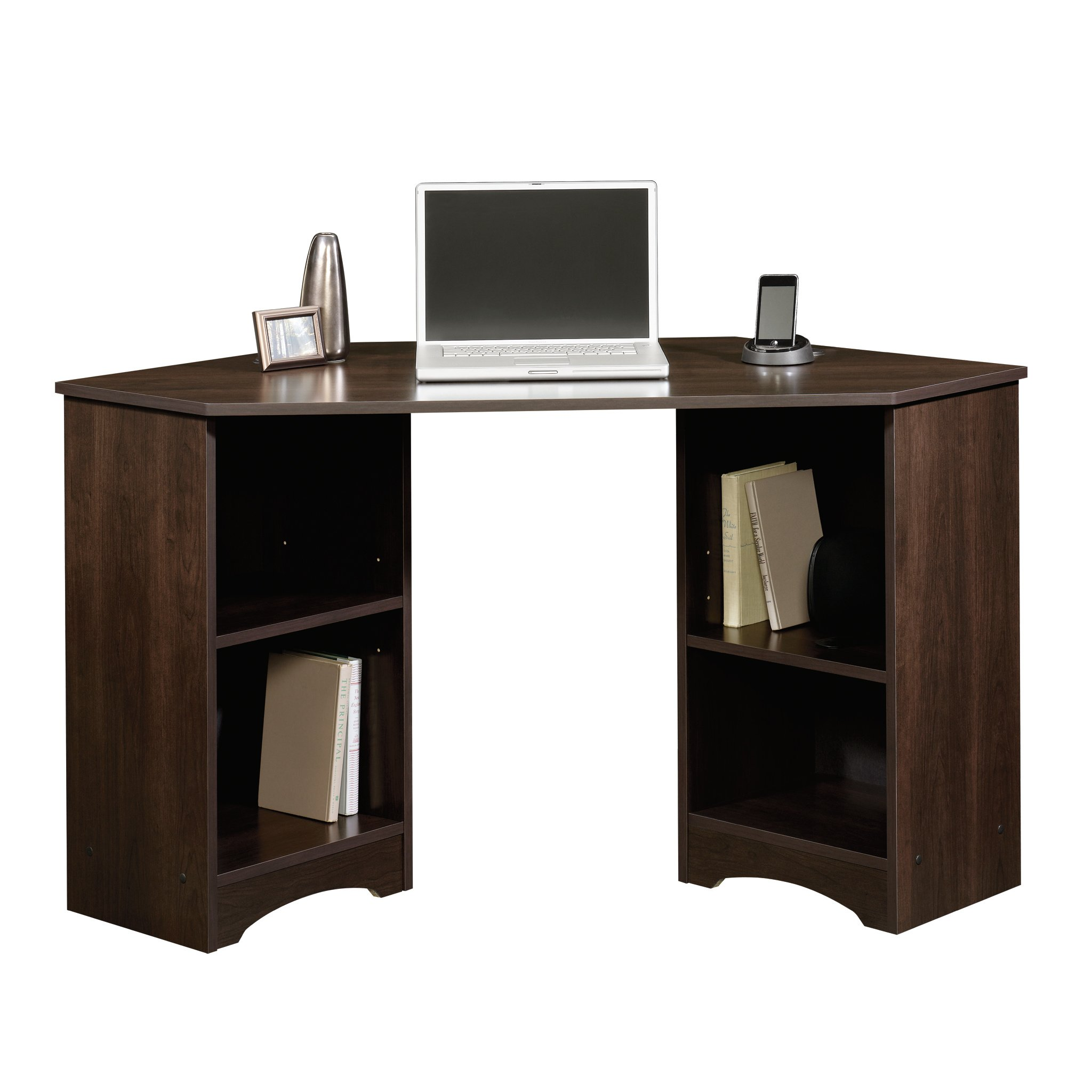 Sauder 413073 Beginnings Corner Desk, L: 53.15'' x W: 23.47'' x H: 28.74'', Cinnamon Cherry finish by Sauder