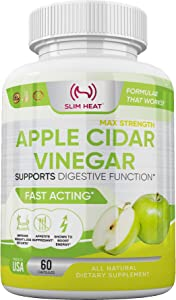 100% Natural Raw Apple Cider Vinegar Pills - Fast Weight Loss Cleanse, Appetite Suppressant, Bloating Relief for Women & Men - Non GMO, Gluten Free, All Natural & Made in USA (60 Capsules)