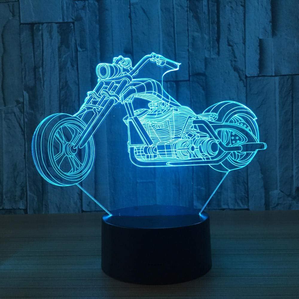 Moto Acrobacias Lámpara De Mesa Táctil 7 Colores Lámpara