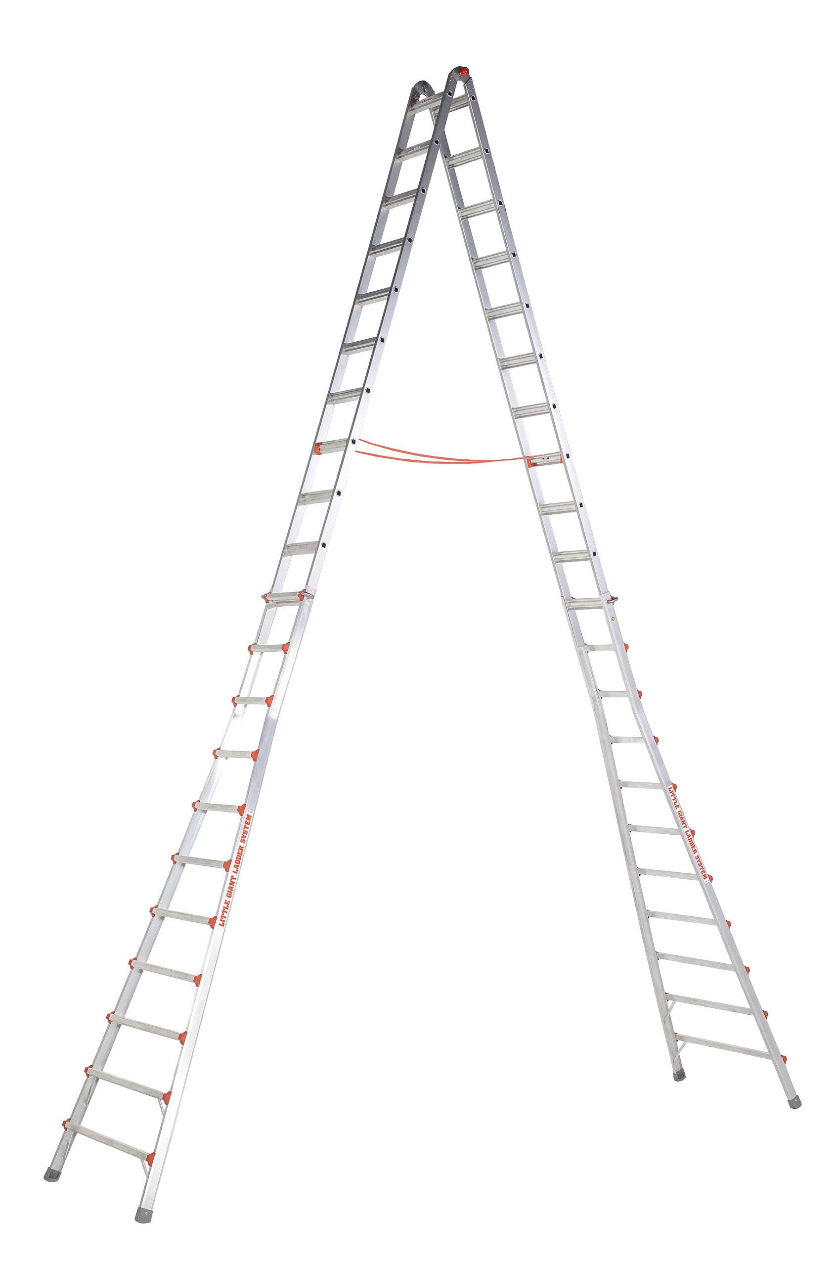 Little Giant Ladders 10121 SkyScraper 300-Pound Duty Rating Adjustable Stepladder, 21-Foot