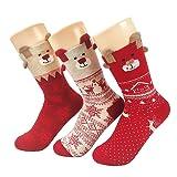 Women Socks AIMKE Christmas socks cartoon warm Socks novelty Casual Socks -Fantastic Gift Idea