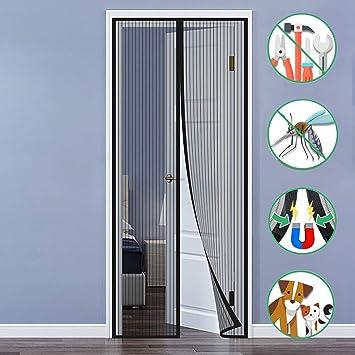 DHL Fliegengitter Tür Magnetisch Magnetvorhang Insektenschutz Balkontür 3 Größen