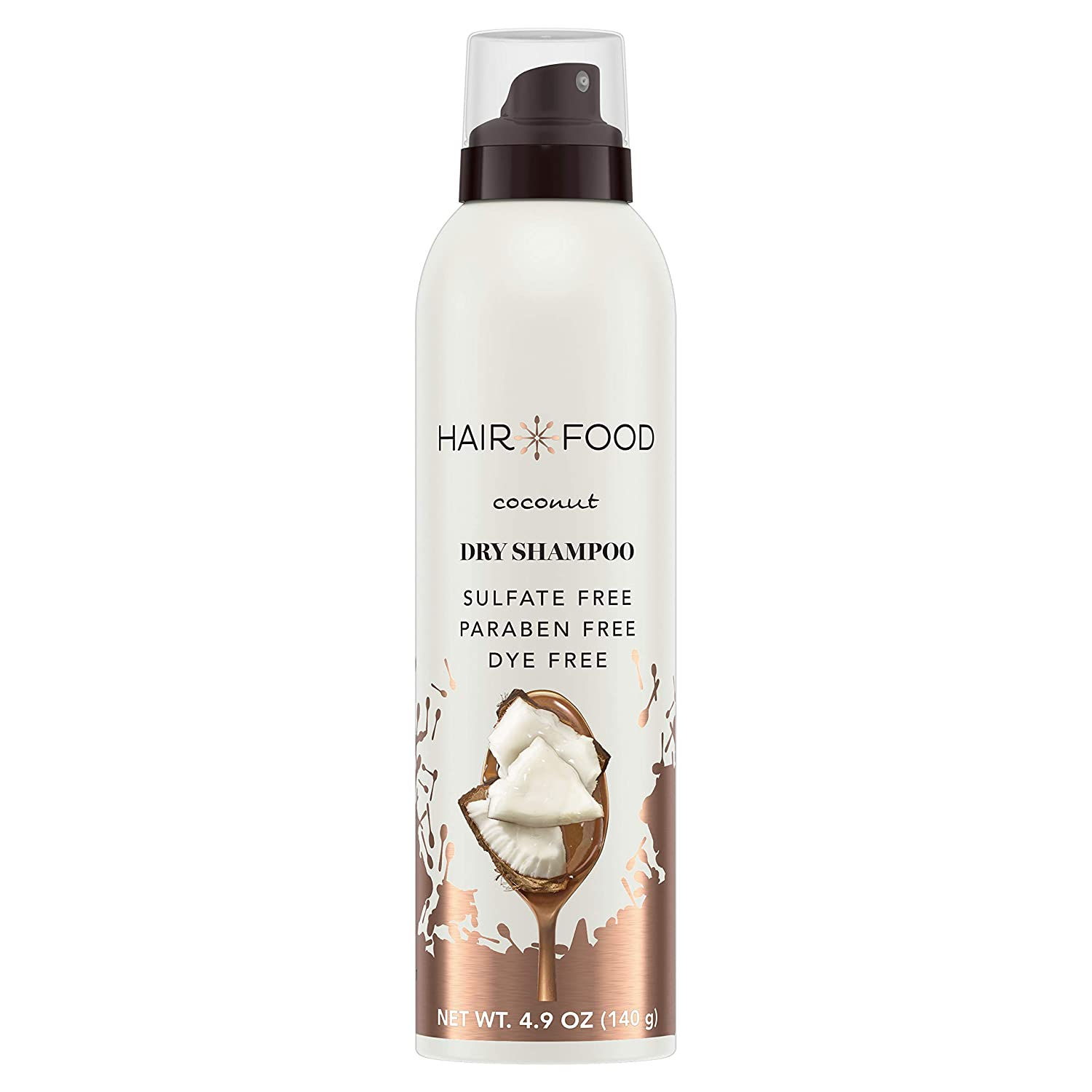 Hair Food Dry Shampoo For Women, Nourishing Coconut, Sulfate and Paraben Free, Dye free, 4.9 Oz
