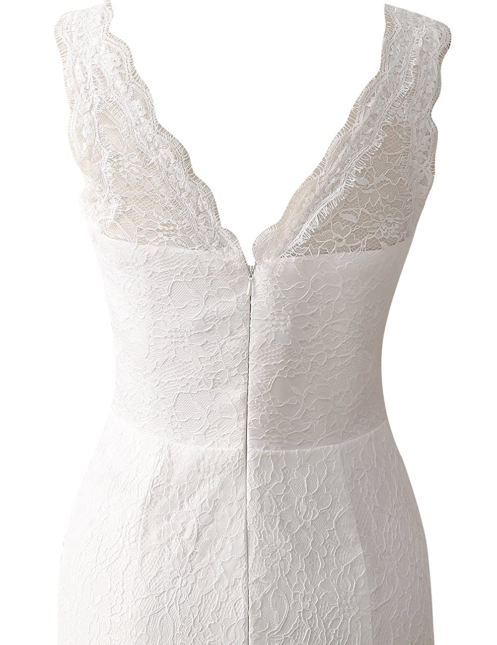 JAEDEN Lace Wedding Dress Mermaid Bridal Gown V Neck