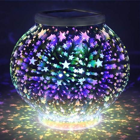 d613d7f0477 Color Changing Mosaic Solar Light
