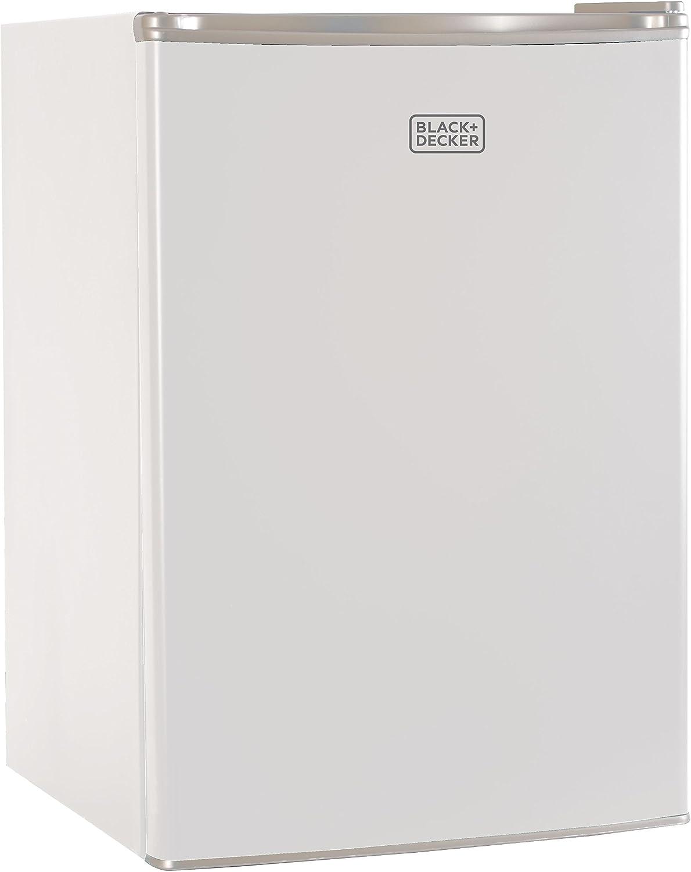 Renewed BLACK+DECKER BCRK17B Compact Refrigerator Energy Star Single