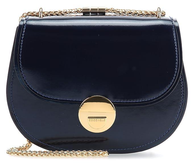 79dd6b2ef6 Coccinelle Violaine Mirror Borsa a spalla blu scuro: Amazon.it:  Abbigliamento