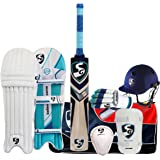 SB SG Campus English Willow Cricket Kit With Leather Ball (12-14 Year)