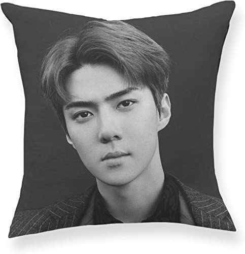 Fanstown Kpop EXO Don t Mess UP My Tempo Throw Pillow Soft Velvet core Included with lomo Cards I52