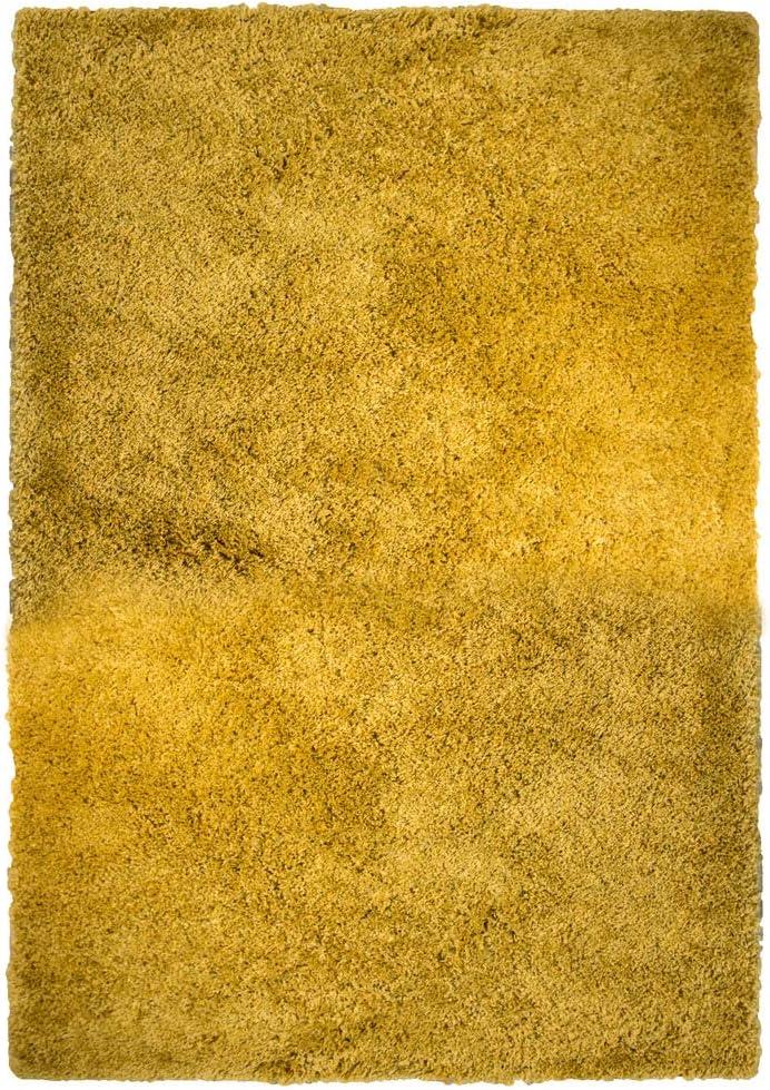 Tappeto casa tappeto 80 cm x 150 cm 2ft18 cm x 4ft28 cm Giallo ocra
