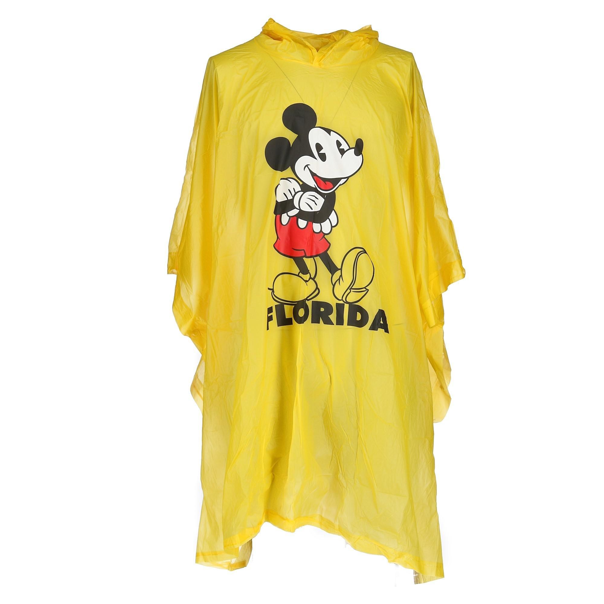 Disney Kid's Mickey Mouse Florida Rain Poncho, Yellow