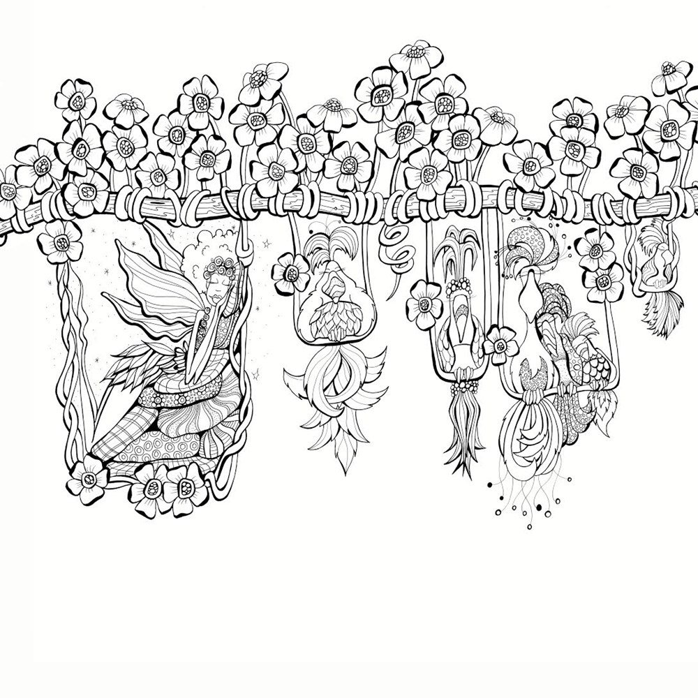Zendoodle Coloring Presents Fairies In Dreamland An