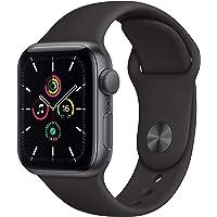 Apple Watch SE (GPS, 40-mm) kast van spacegrijs aluminium - Zwart sportbandje