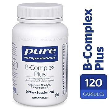 Pure Encapsulations - B-Complex Plus - Balanced B Vitamin Formula with  Metafolin® L-5-MTHF