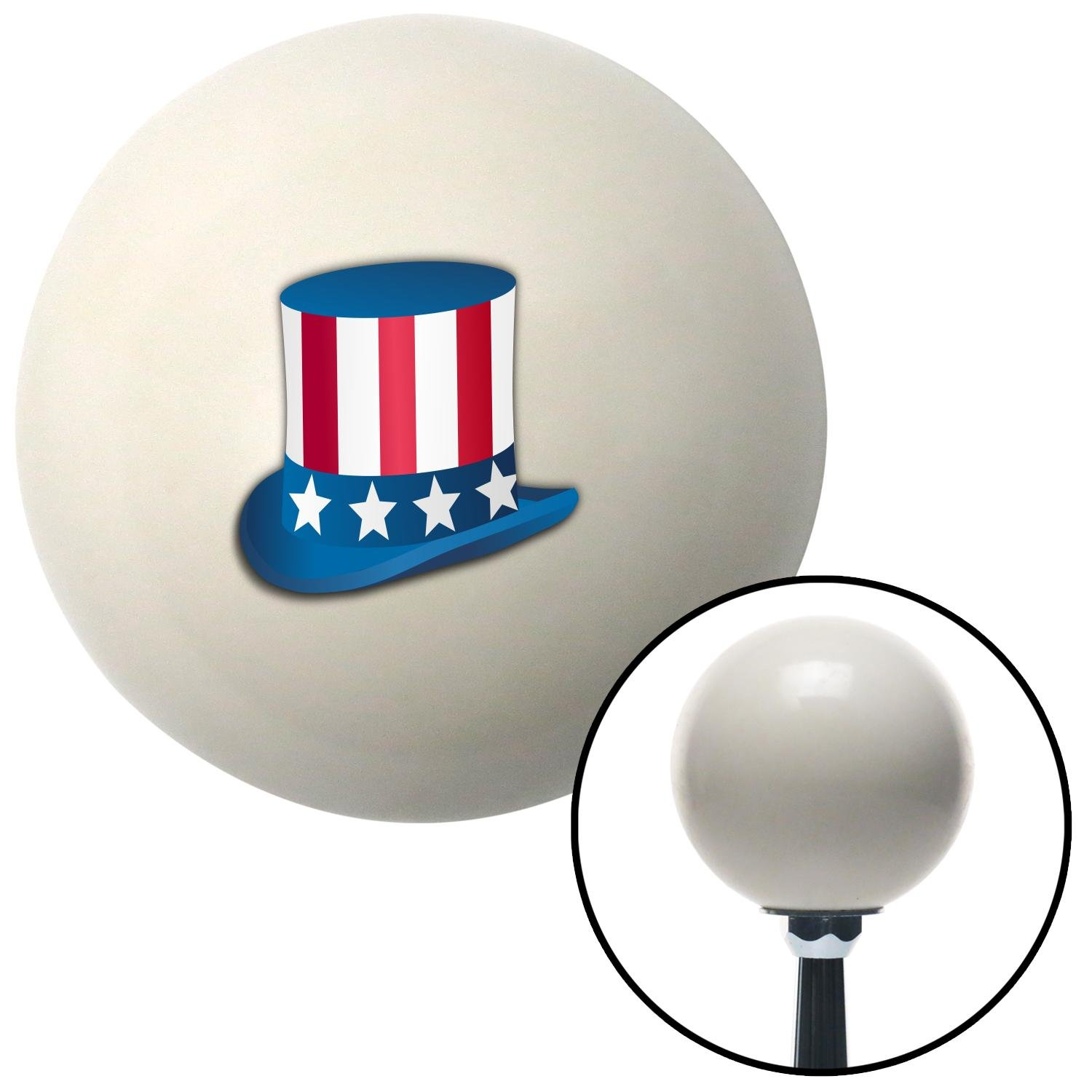 American Shifter 76262 Ivory Shift Knob with M16 x 1.5 Insert Uncle Sam Hat