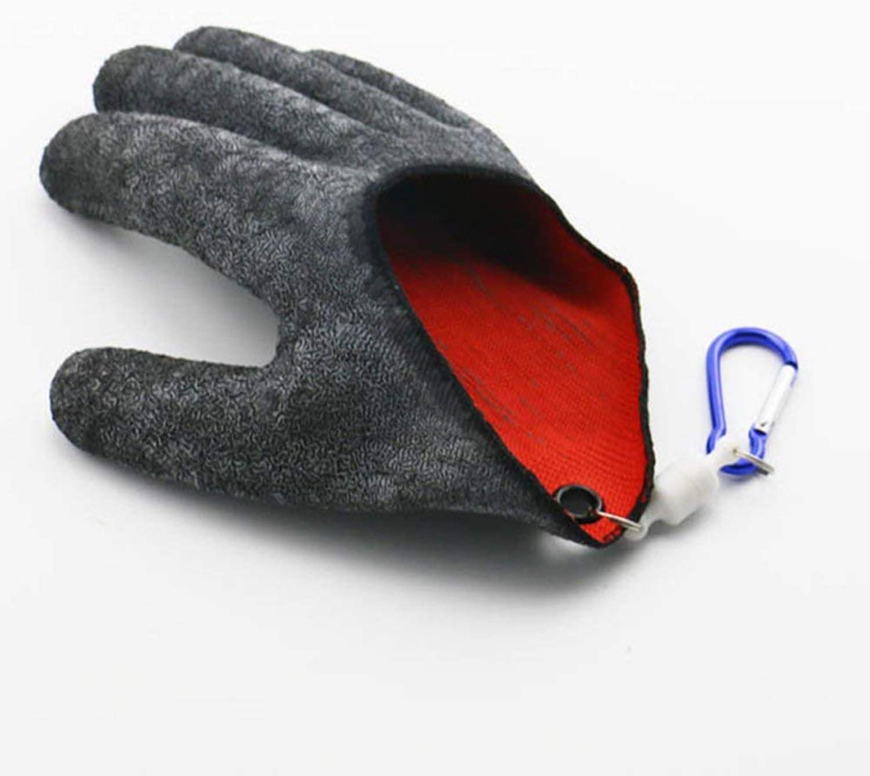 Angeln Handschuhe Jagd Handschuh topind Wasserdicht anti-cut Handschuh PE Draht Woven Latex Fisch fangen Handschuhe mit Magnet Release Angeln Wear M L XL 1/St/ück schwarz