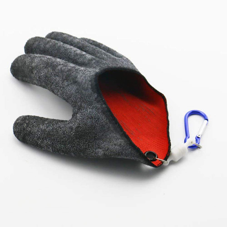 ZSZBACE Angeln Handschuhe Jagd Handschuh Wasserdicht Anti-Cut Handschuh PE Draht Woven Latex Fisch Fangen Handschuhe mit Magnet Release Angeln Wear 1 Stü ck