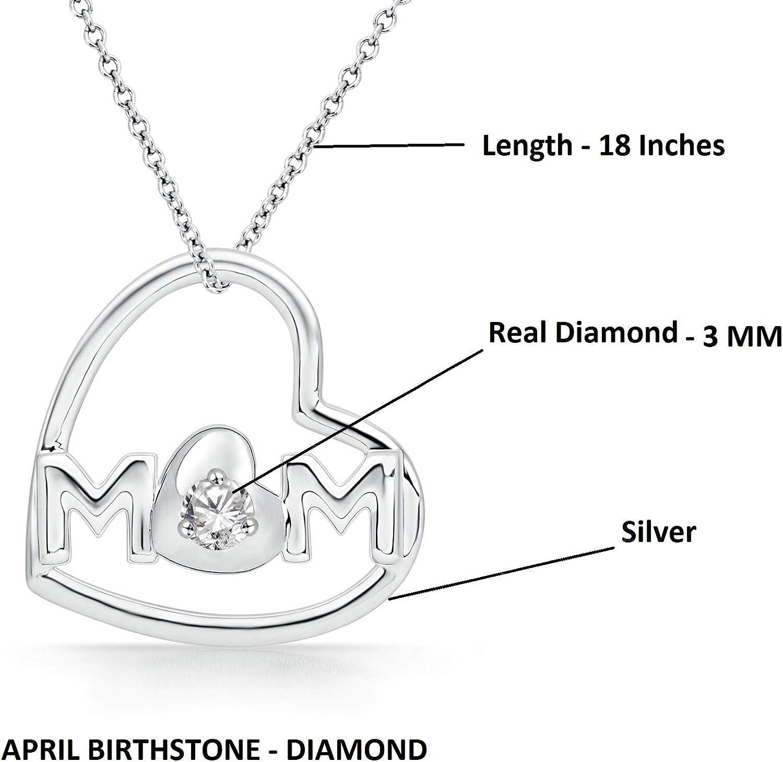 "925 Sterling Silver Round Brilliant Cut Simu Diamond Drop Cluster Pendant 18/"""
