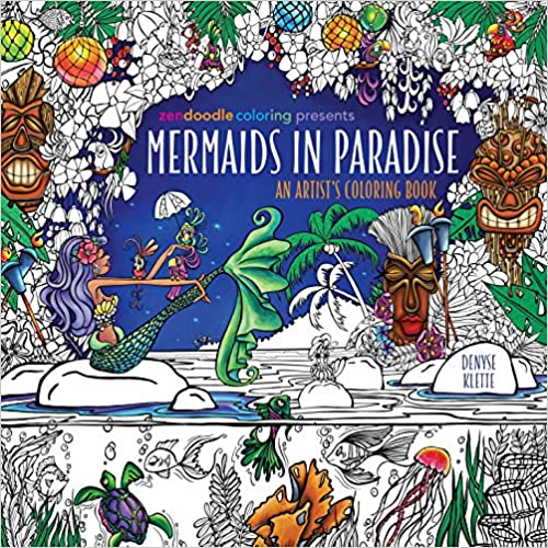 Zendoodle Coloring Presents Mermaids In Paradise: An Artist's Coloring Book by Amazon