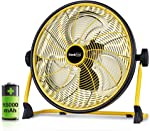Geek Aire Rechargeable Outdoor High Velocity Floor Fan,16'' Portable 15000mAh Battery