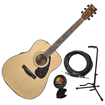 Amazon.com: Yamaha FX325A Spruce Top Folk Acoustic Electric Guitar w/Stand, Tuner, and Cabl: Musical Instruments