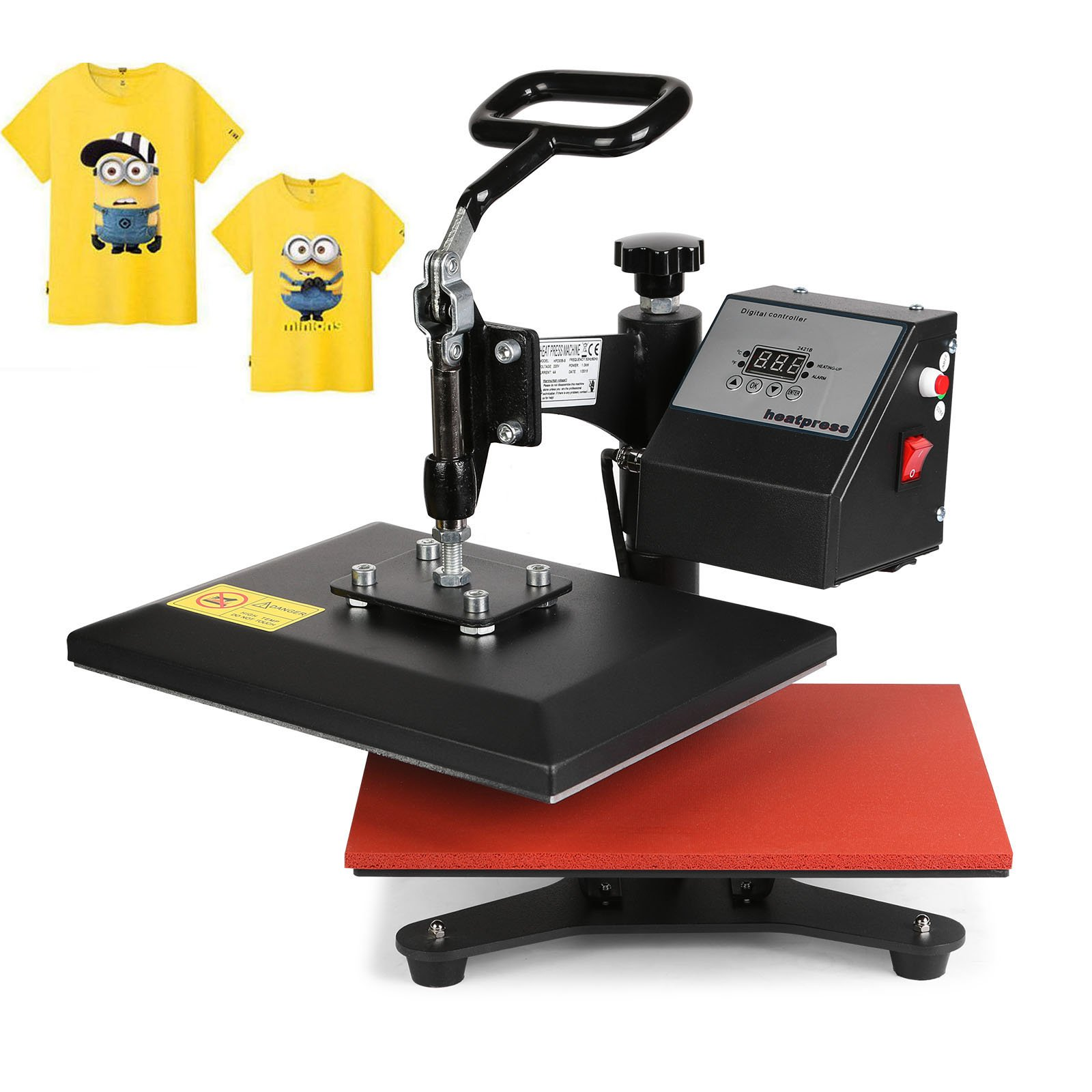 Happybuy 12x10Inch Heat Press Digital Swing Away Heat Press Machine Transfer Sublimation Heat Press Machine for T-Shirts (12x10Inch Swing Away) by Happybuy