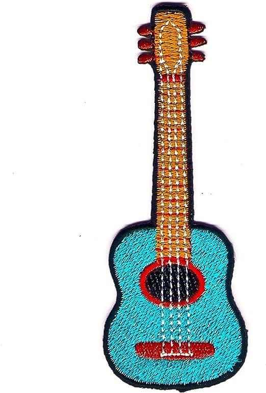 Logo muestra símbolo Flamenco guitarra acústica emblema bordado ...