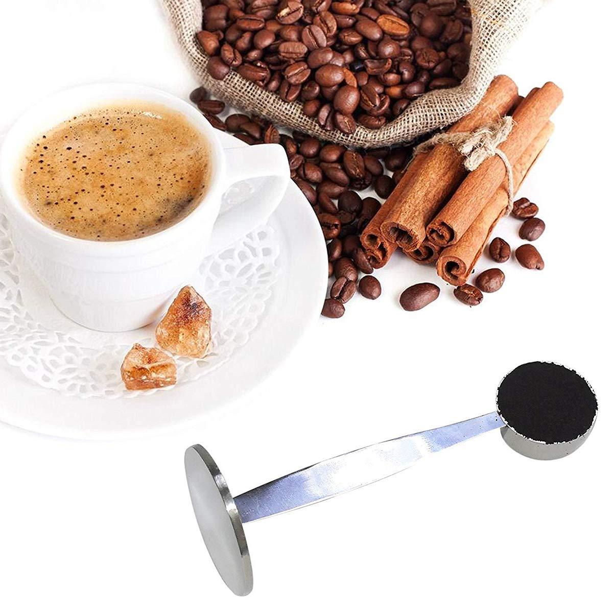 Espresso Staender Kaffee Mass Tamper Loeffel Edelstahl Kaffee /& Tee Werkzeuge 1A