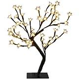 EXCELVAN 0.45M LED Baum Lichterbaum 48er Kirschbaum Kirschblütenbaum Größe Lichterbaum für Hochzeit Party Garten Beleuchtung Innen und Außen Deko Warmweiß