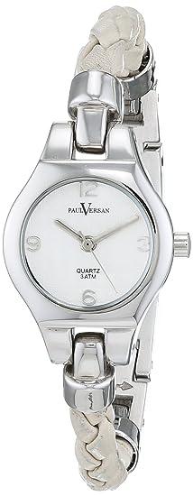 Paul Versan Reloj Análogo clásico para Mujer de Cuarzo con Correa en Cuero PV6601: Amazon.es: Relojes