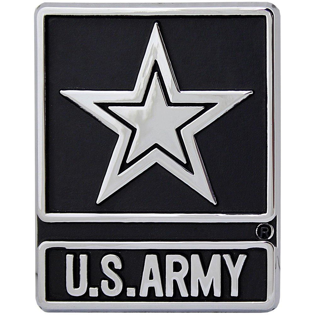 U.S Army Silver Star Logo Chrome Auto Emblem Mitchell Proffitt AC-18