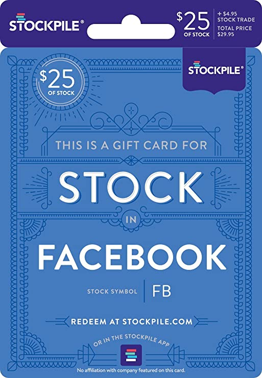 Amazon Gift Card For Facebook Stock Everything Else