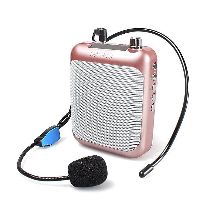 Stimme Verstärker, maono au-c01 Tragbares Profi Lehrer Mikrofon mit FM, Wiederholen und Musik Player Funktion, Busse, Tour Gu