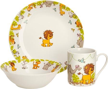gepo lana Vajilla infantil de 3 piezas Porcelana: Gepolana: Amazon ...