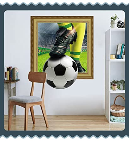 Sporting 3d Sport Football Art Wall Sticker Vinyl Decals Removable Living Bedroom Decor To Enjoy High Reputation In The International Market Nursery Décor Home Décor