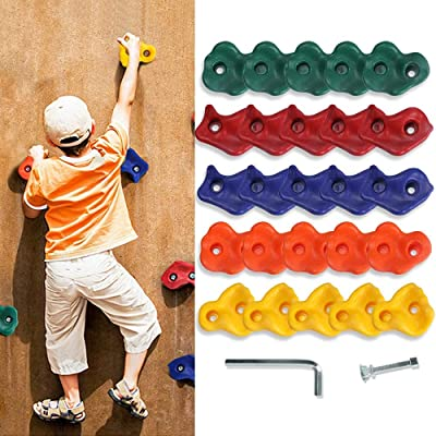 25PCS Rock Climbing Holds Set For DIY Rock Stone Wall with Mounting Screws Kit