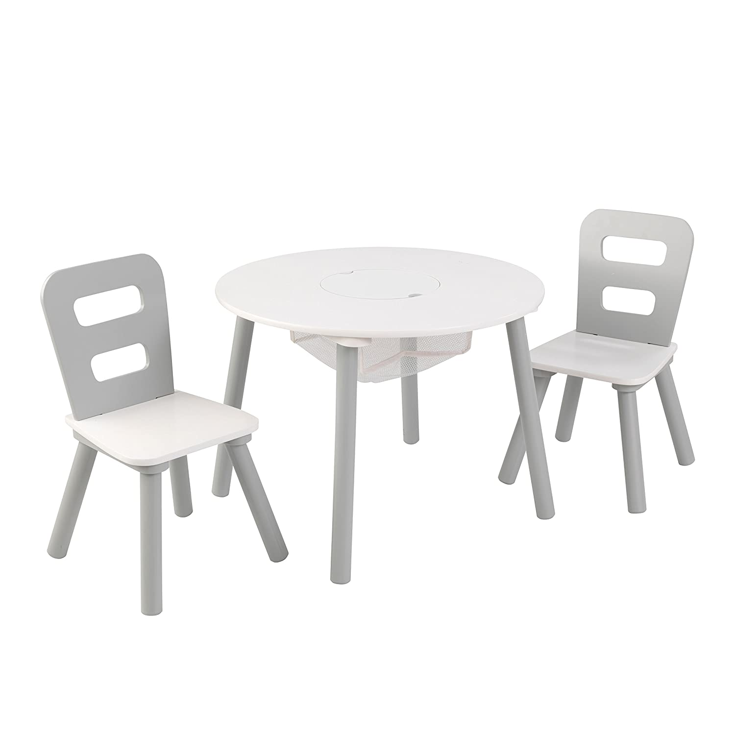 Amazon KidKraft Round Table & Chair Set Wht & Gray Others