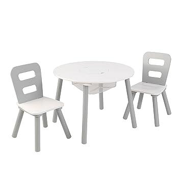 KidKraft Round Table U0026 Chair Set Wht U0026 Gray Others, White, ...