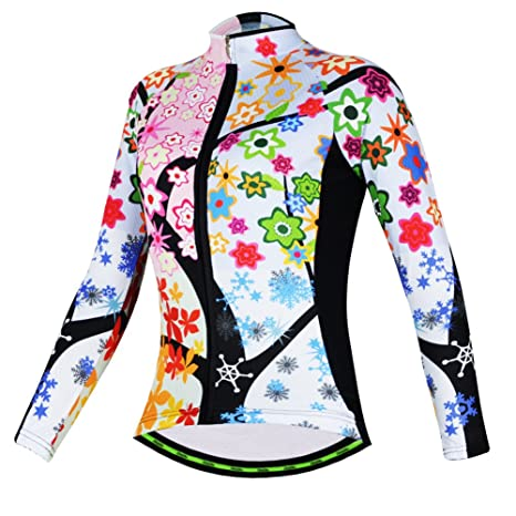 e90fb7fcb Aogda Long Sleeve Thermal Cycling Jerseys Jacket Women Bike Bicycle Shirts  Winter Cycling Clothing (A