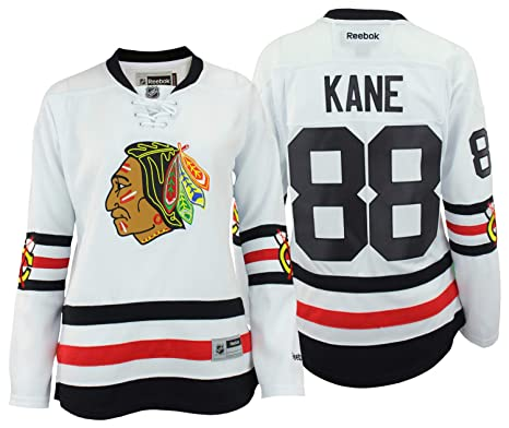 be264a46171 Reebok NHL Women's Chicago Blackhawks Patrick Kane #88 Winter Classic  Premier Player Jersey, White