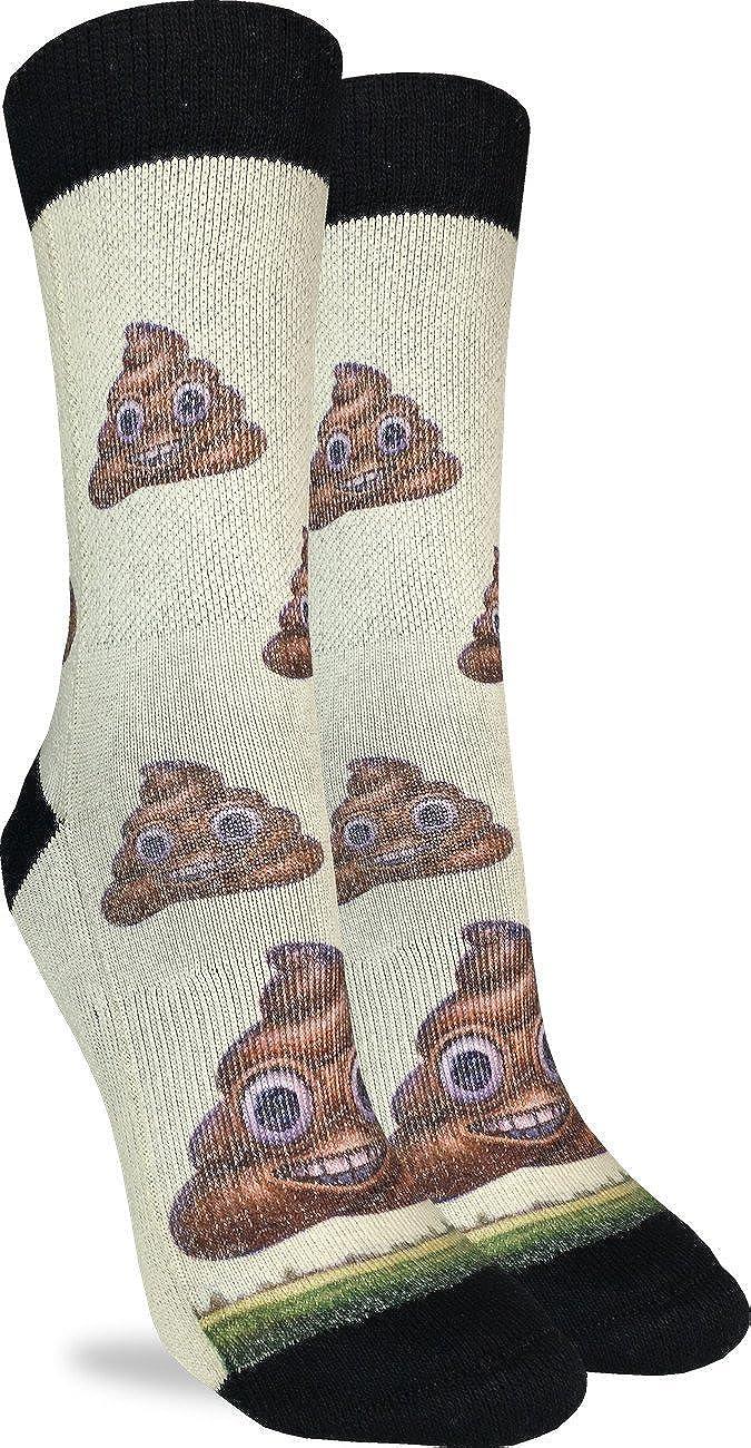 Good Luck Sock Women's Piles of Poop Crew Socks - Brown, Adult Shoe Size 5-9 5037