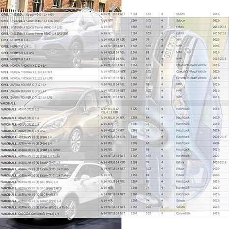 ... For Chevrolet Aveo Sonic Cruze Trax Opel Adam Astra J Cascada Corsa D E Insignia Meriva Zafira Mokka Vauxhall 1.2L 1.4L Turbo 2009-55575499: Automotive