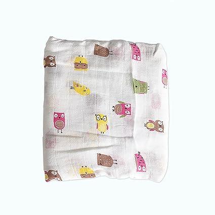 Toallas de baño de recién nacidos para bebé suave manta de fibras de bambú con diseño