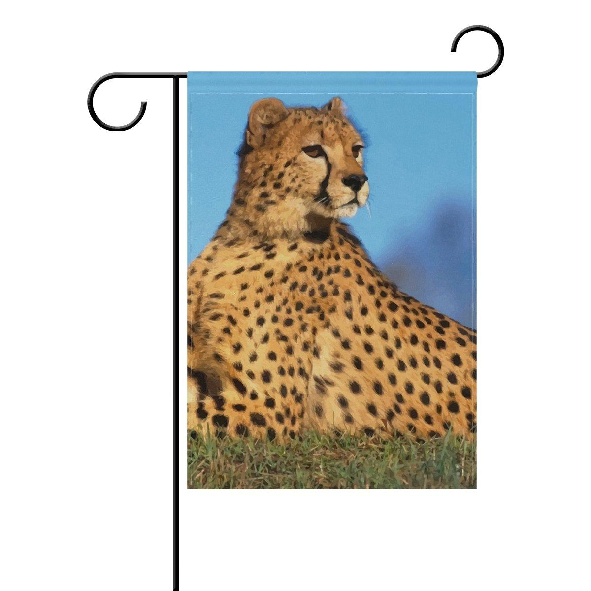 MUMIMI Animal Cheetah - Bandera de Jardín DE 12 x 18 cm, Diseño de ...