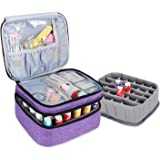 Luxja Nail Polish Carrying Case - Holds 30 Bottles (15ml - 0.5 fl.oz), Double-layer Organizer for Nail Polish and Manicure Se