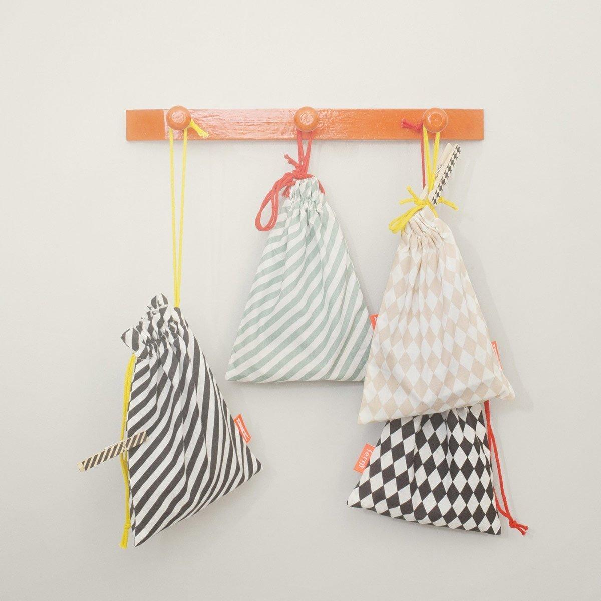 Ferm Living Striped Clothes Pins, Blue Bag (Witn 20 Pins)