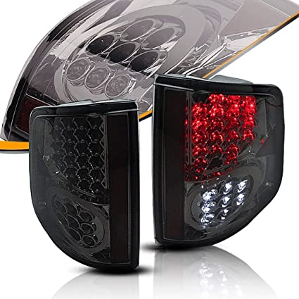 amazon com: led tailights tail lamps for chevy s10 pickup 1994-2004 gmc  sonoma 1994-2004 isuzu hombre 1995-2000 (chrome & smoke combo lamp  assembly):