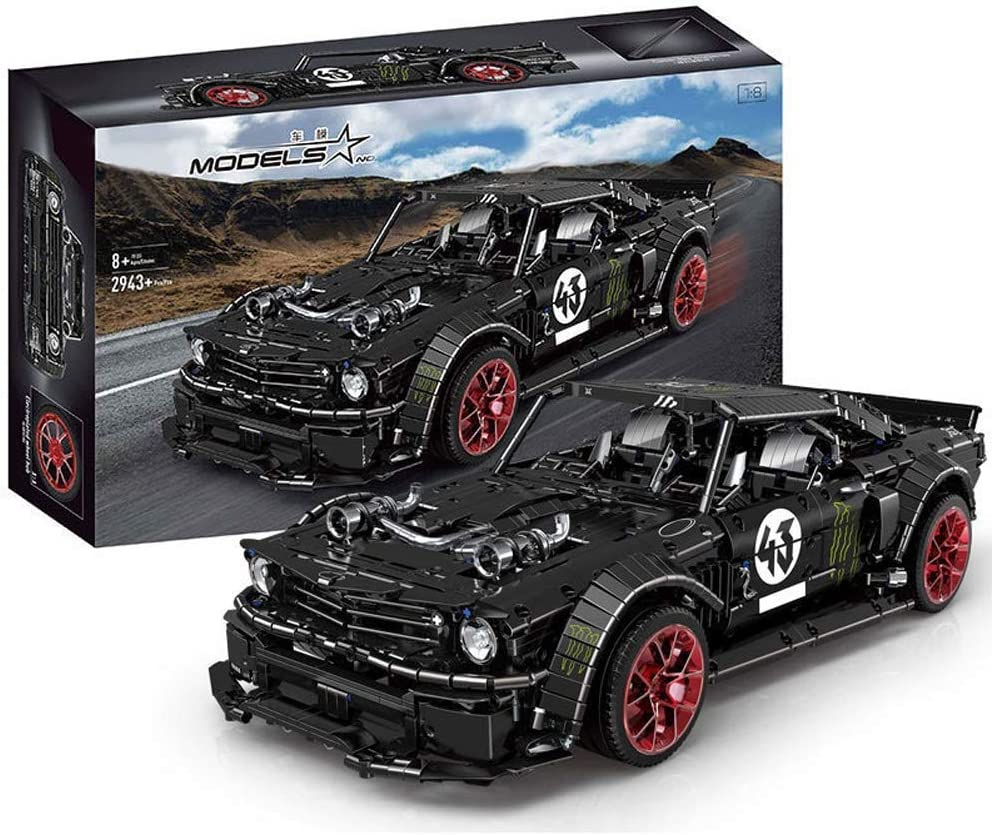 ビルディング・ブロック - マスタングスポーツカー電気めっきハブアセンブリレーシングモデルのおもちゃの静的なバージョン