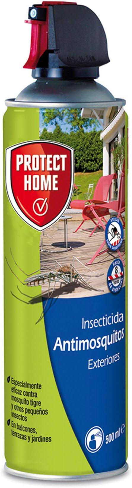 PROTECT HOME Antimosquitos Exteriores, Insecticida Persistente, Ideal para Mosquitos Tigre y Moscas, 500 ml (Pack de 2), Azul: Amazon.es: Jardín